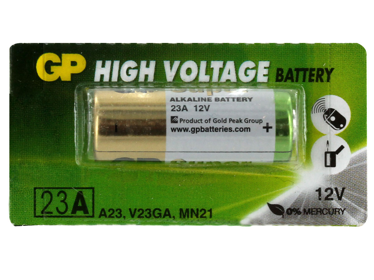 Gold Peak A23 battery in 1 piece tear strip