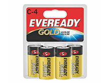 Energizer Eveready Gold A93-BP-4 C-cell 1.5V Alkaline Button Top Batteries - 4 Piece Retail Card