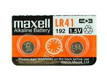 Maxell LR41 1.5V Alkaline Coin Cell Battery (AG3 392 192) - 1 Piece Tear Strip, Sold Individually
