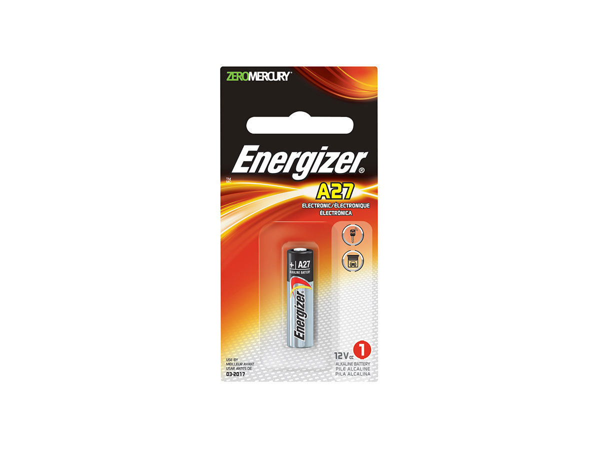 Energizer A27 battery in 1 piece retail card