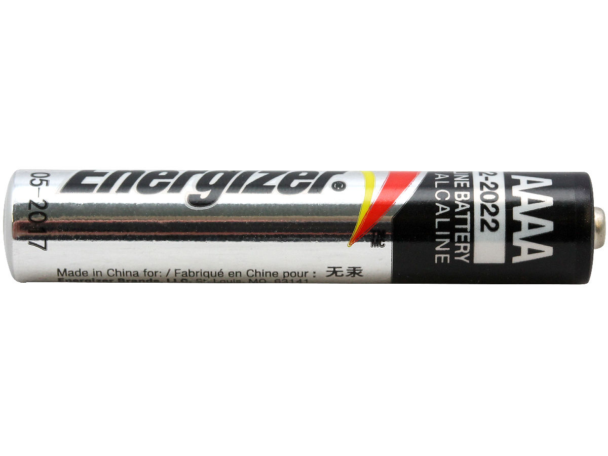 Side Shot of the Energizer E96 AAAA Battery