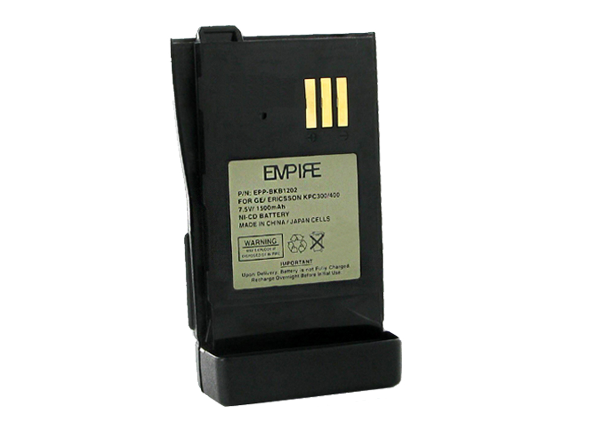 Empire 7.5V NiCd battery front side angle