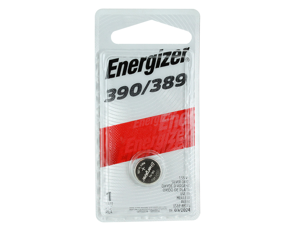 Energizer 1.5V 389 Silver Oxide Button Cell Battery - 1pc Blister Pack