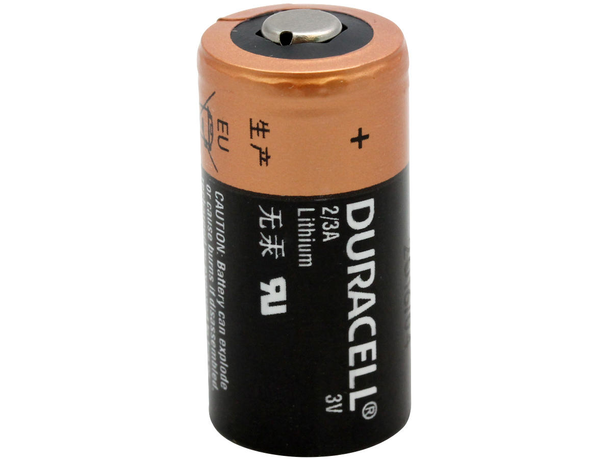 Standing Shot of the Duracell DL 2/3A