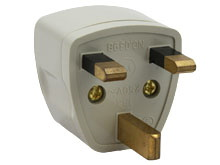 UK Plug Adapter Grounded Type G SS414 - Black or White