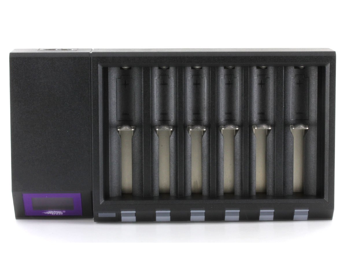 Efest LUC Blu6 battery charger upright