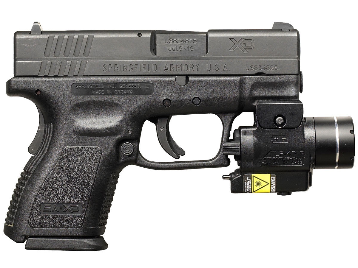 Streamlight TLR-4 G Mounted to XD Handgun