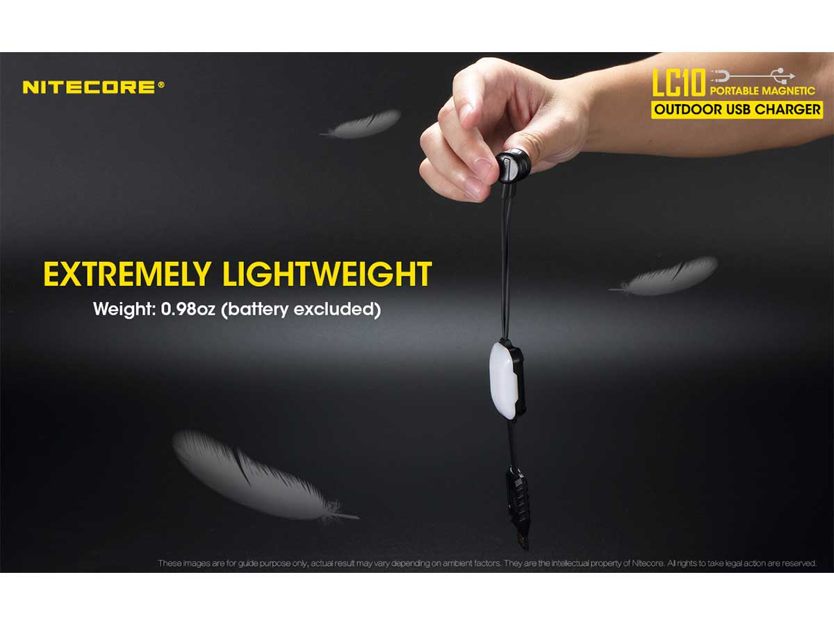 Nitecore LC10 extremely lightweight