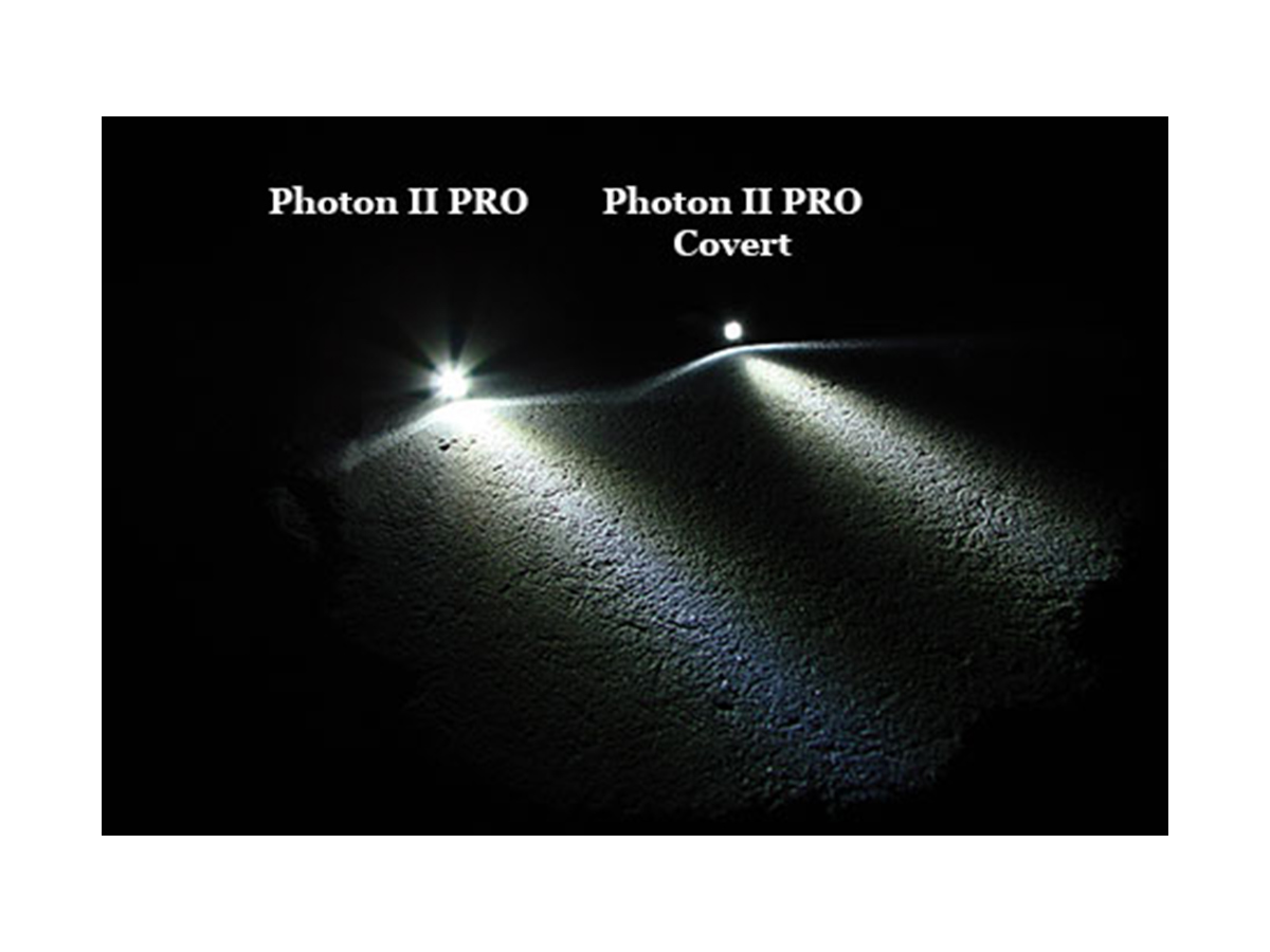 LRI Photon II PRO Key Light difference in beam patterns between covert and non covert noses
