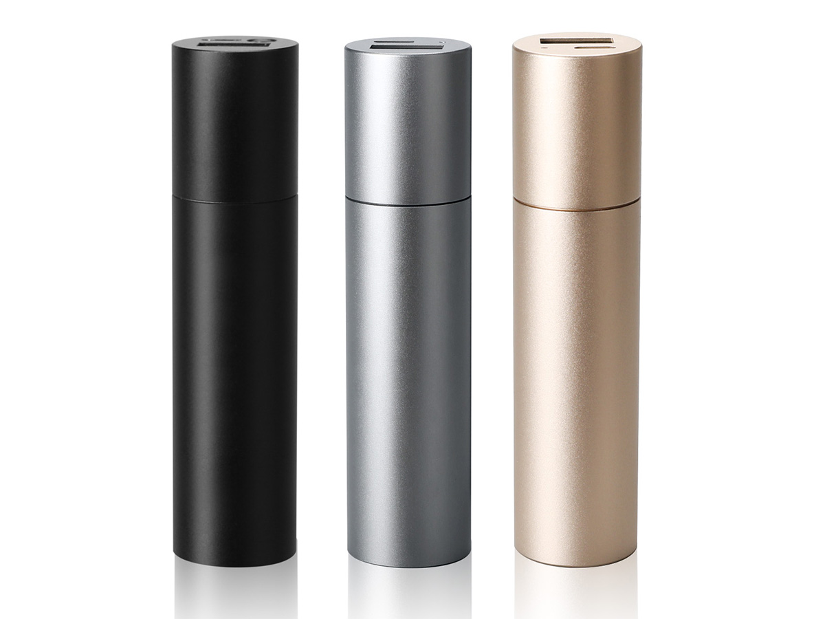 View of Klarus CH1X Multi-Functional Mini Power Bank in Black, Gray, and Gold