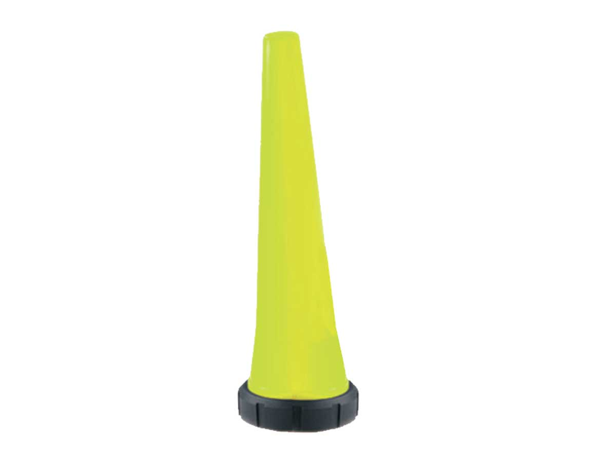 Glow in the dark safety cone