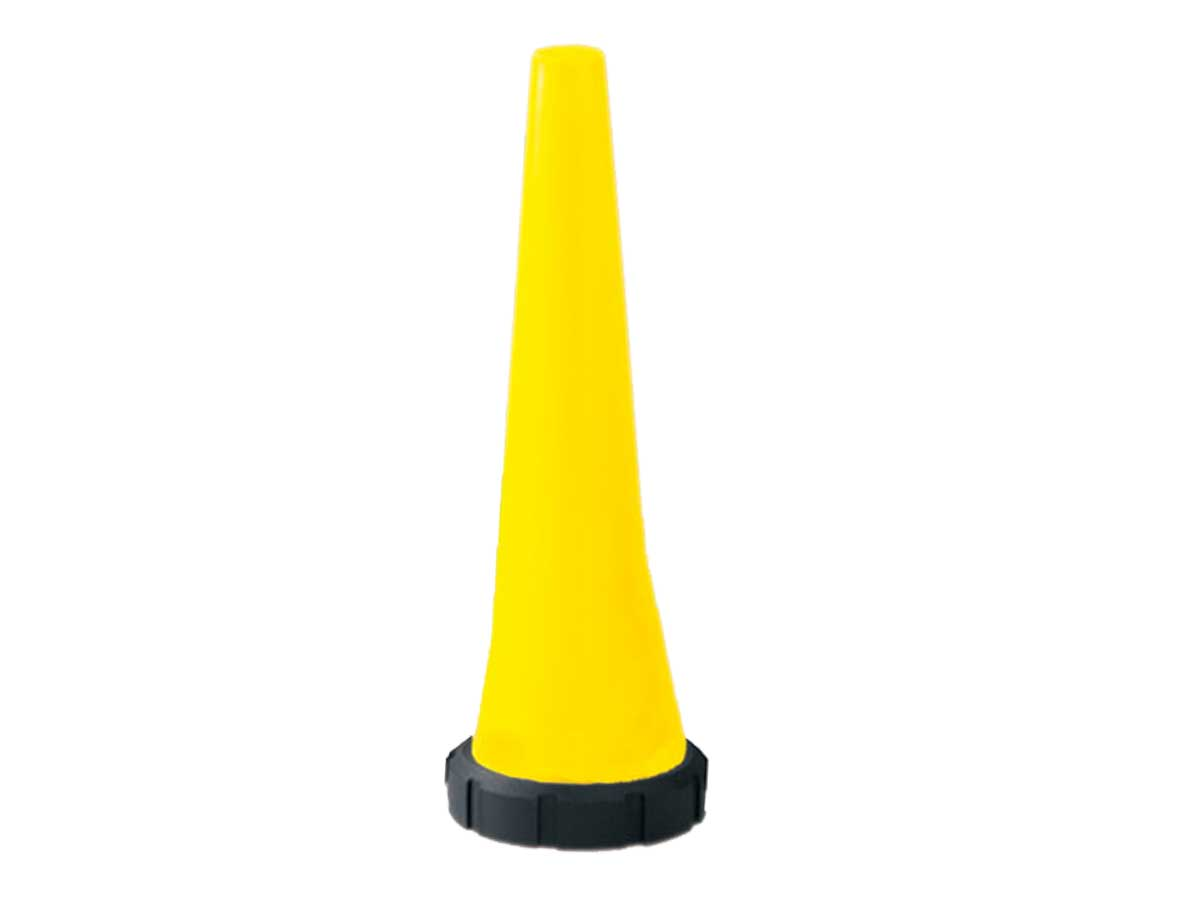 Yellow safety cones