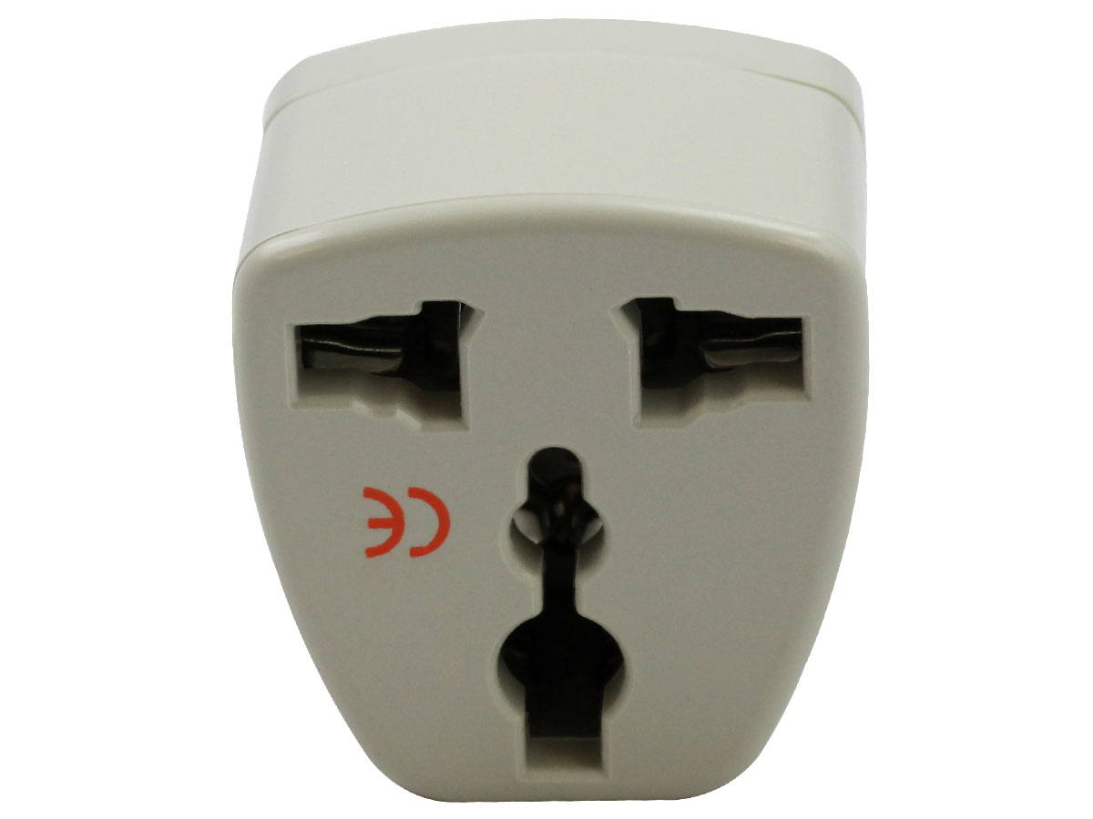 Back of White UK Plug Adapter Grounded Type G SS414
