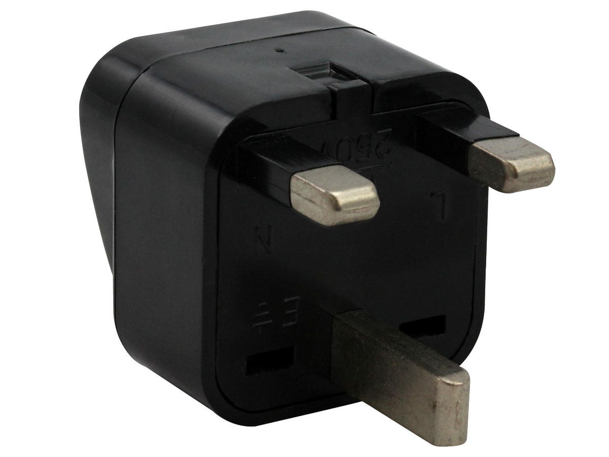 Plug of Black UK Plug Adapter Grounded Type G SS414