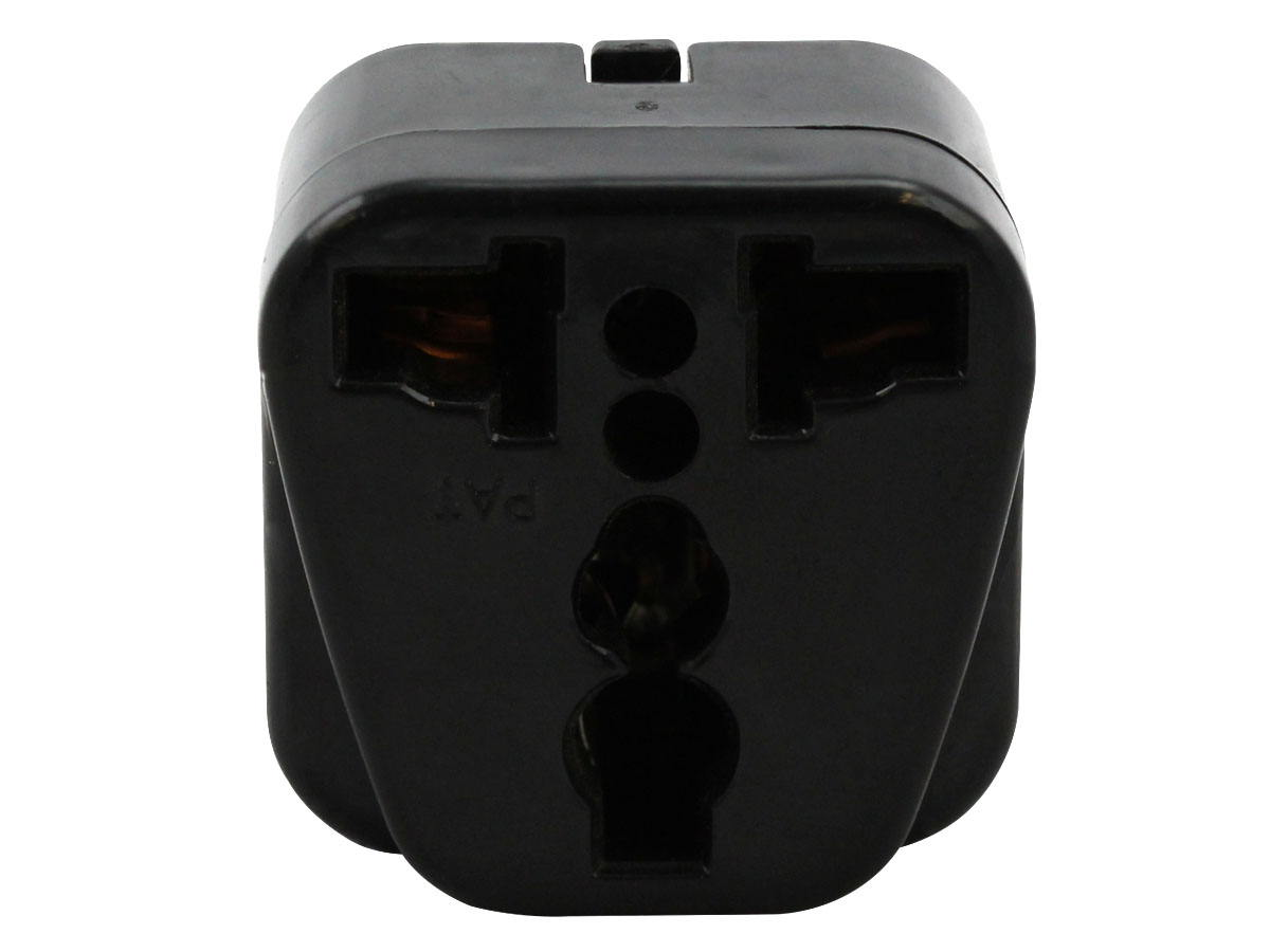 Back of Black UK Plug Adapter Grounded Type G SS414