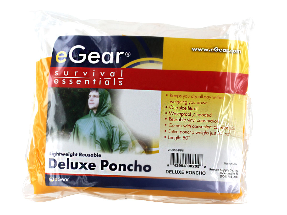 Packaging for eGear Deluxe Poncho