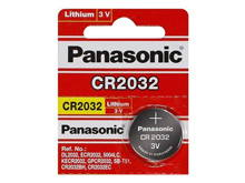 Panasonic CR2032 220mAh 3V Lithium (LiMnO2) Coin Cell Battery - 1 Piece Tear Strip, Sold Individually