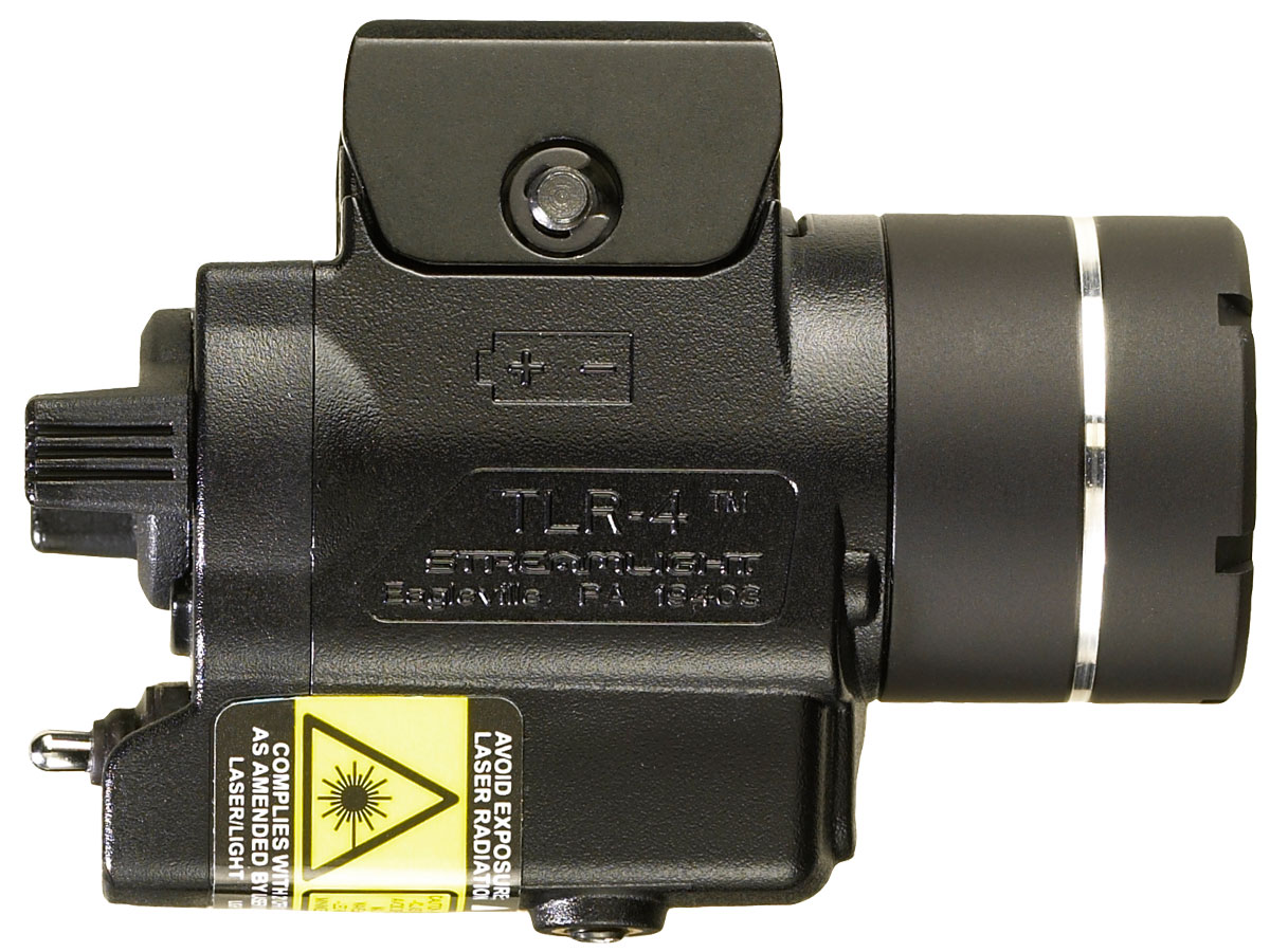 Side Shot of the Streamlight TLR-4 with Key Kit Rail Mount