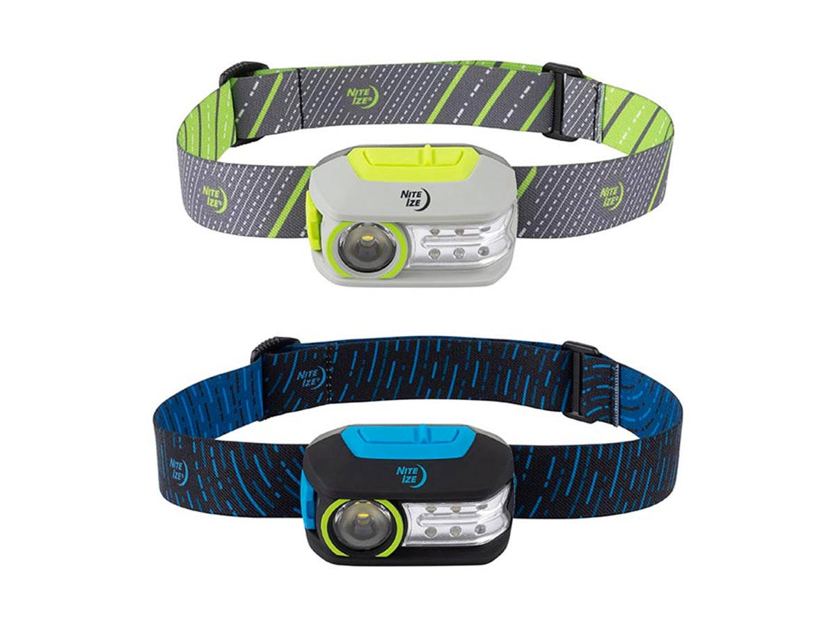 nite ize radiant 300 headlamps blue and green