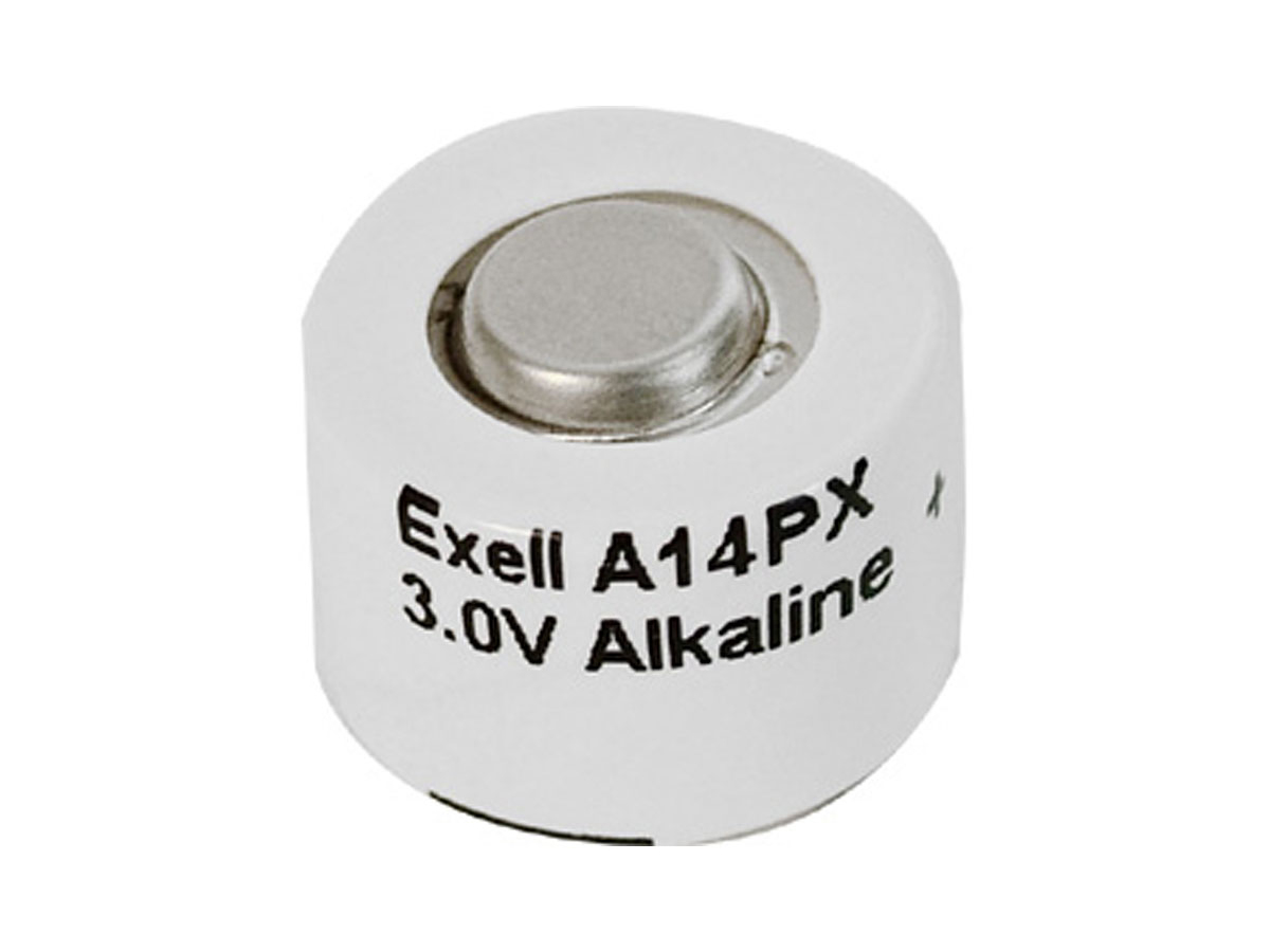 Exell A14PX 3V battery front view