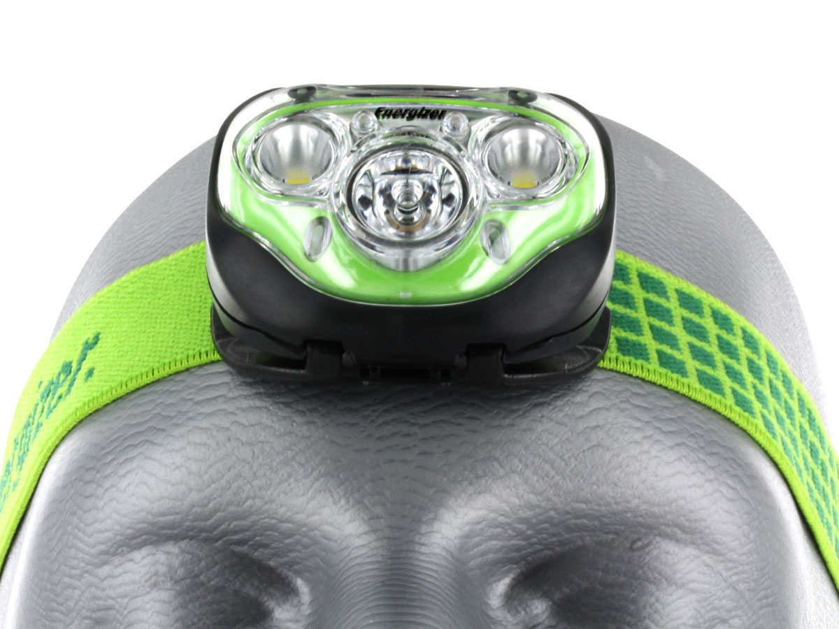 Energizer Vision HD+ Headlamp on head front view