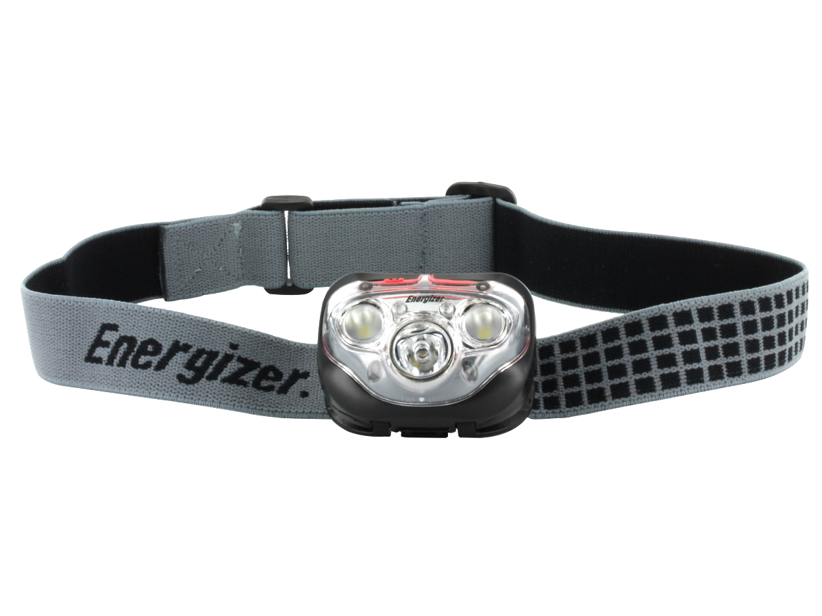 Energizer Vision HD+ Focus Headlamp with headband on front view