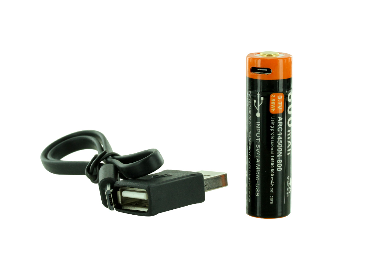 acebeam 14500 and charging cable