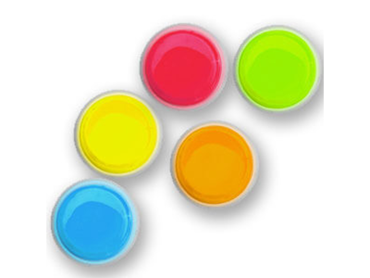 Cyalume 3inch ChemLight LightShape Circle Markers in red, blue, yellow, orange, and green