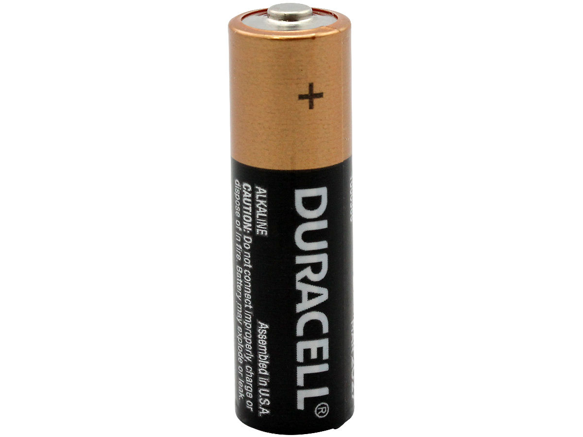 Standing Shot of the Duracell MN1500 AA Alkaline Button Top Battery