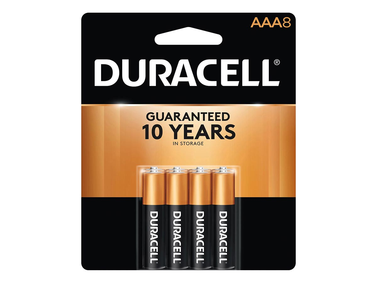 8 piece retail card for Duracell Coppertop AAA batteries