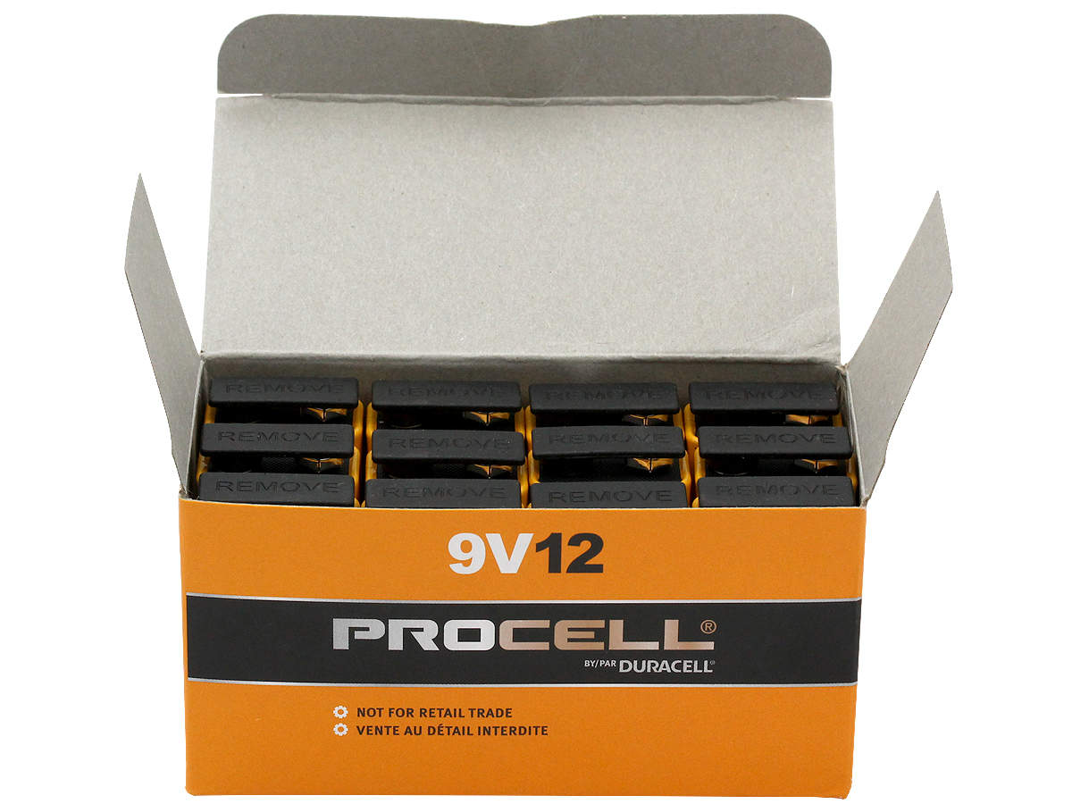 Duracell Procell 9V battery cases