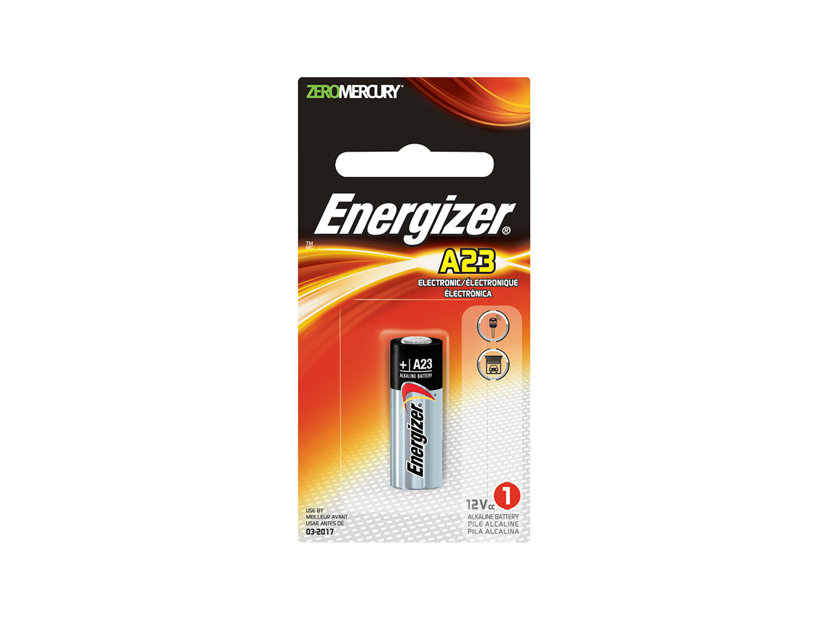 Energizer A23 battery in 1 piece retail card