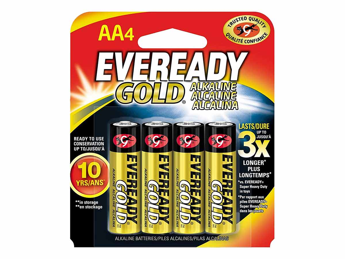 Energizer Eveready A91 batteries in 4 piece retail card