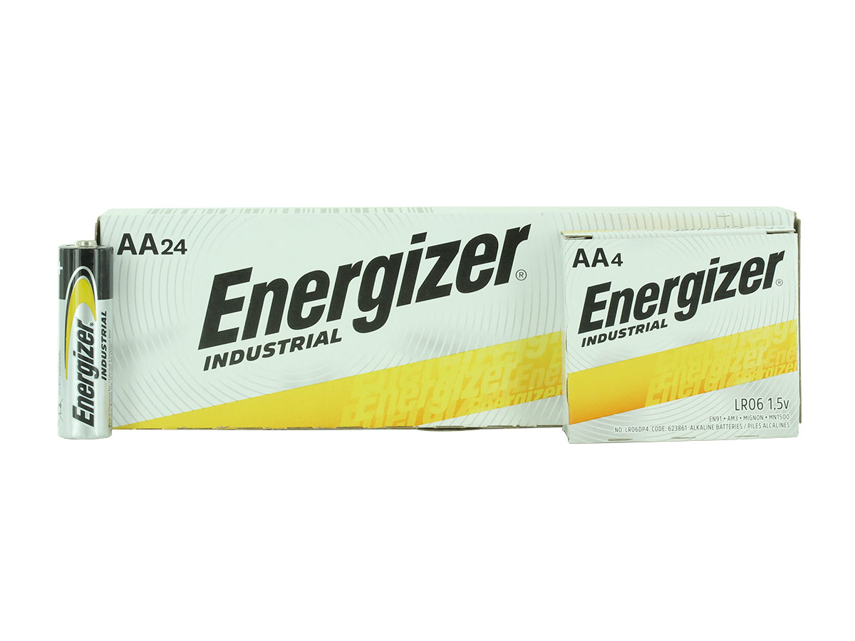 Energizer Industrial AA battery side profile