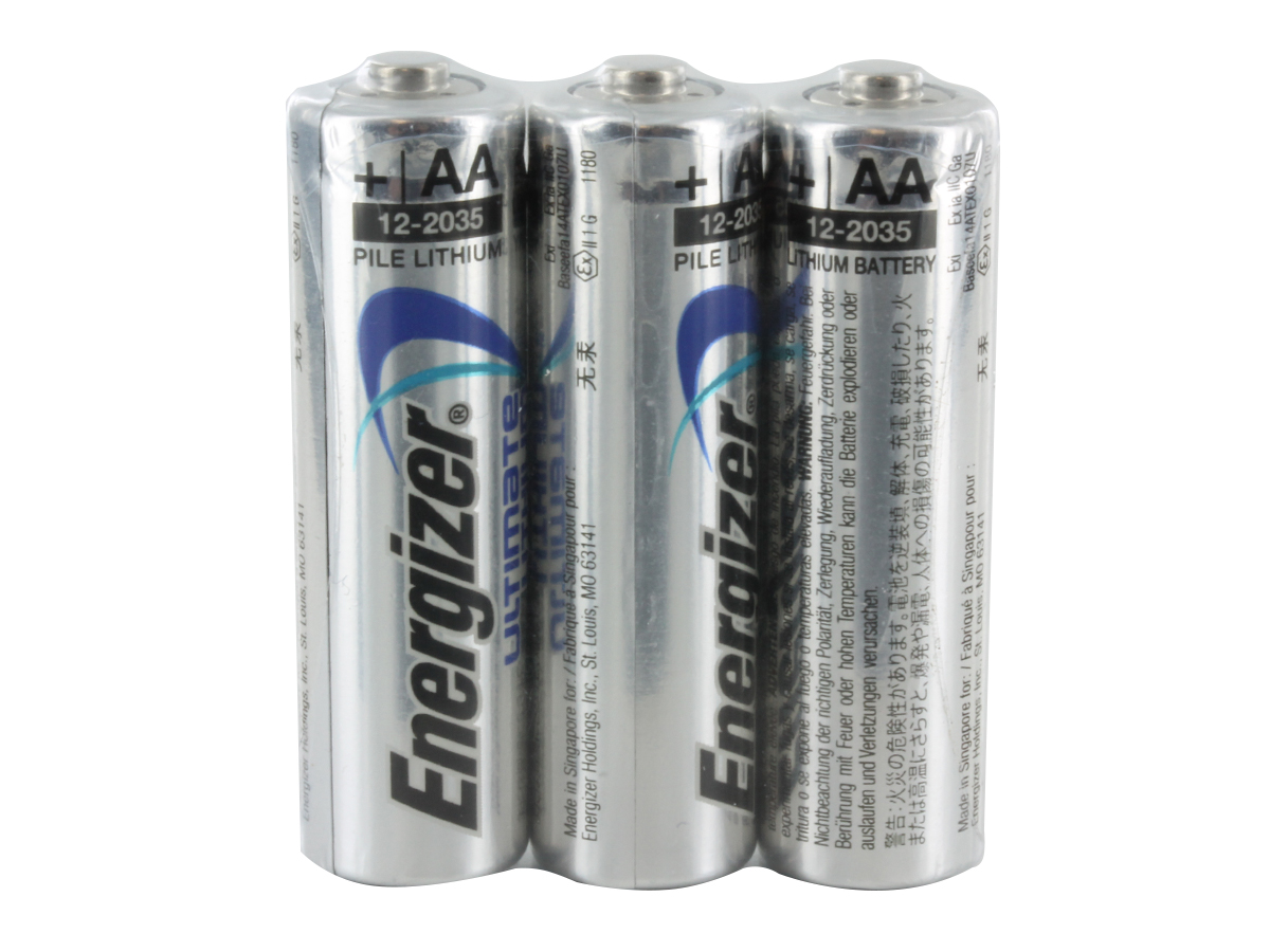 Energizer L91 Shrink Wrap 3 Pack