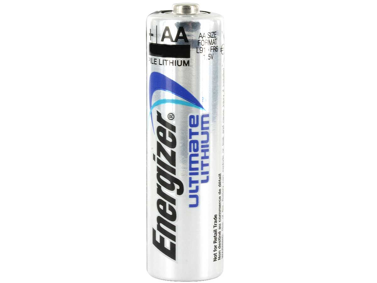 Energizer Ultimate L91 AA battery upright