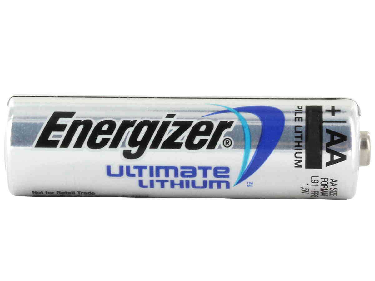 Energizer Ultimate L91 AA battery side profile