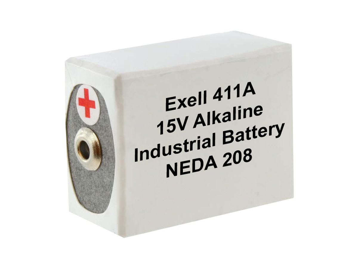 Exell 411A 15V battery left side angle