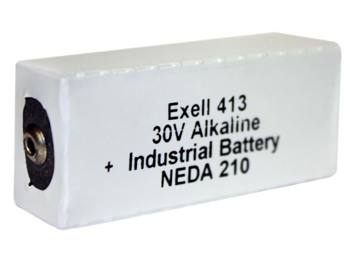 Exell 413A 30V battery left side angle
