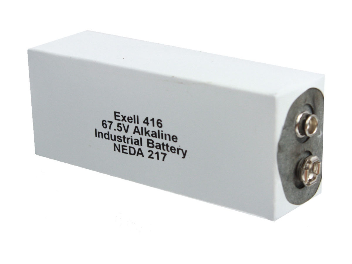 Exell 416A 67.5V battery right side angle