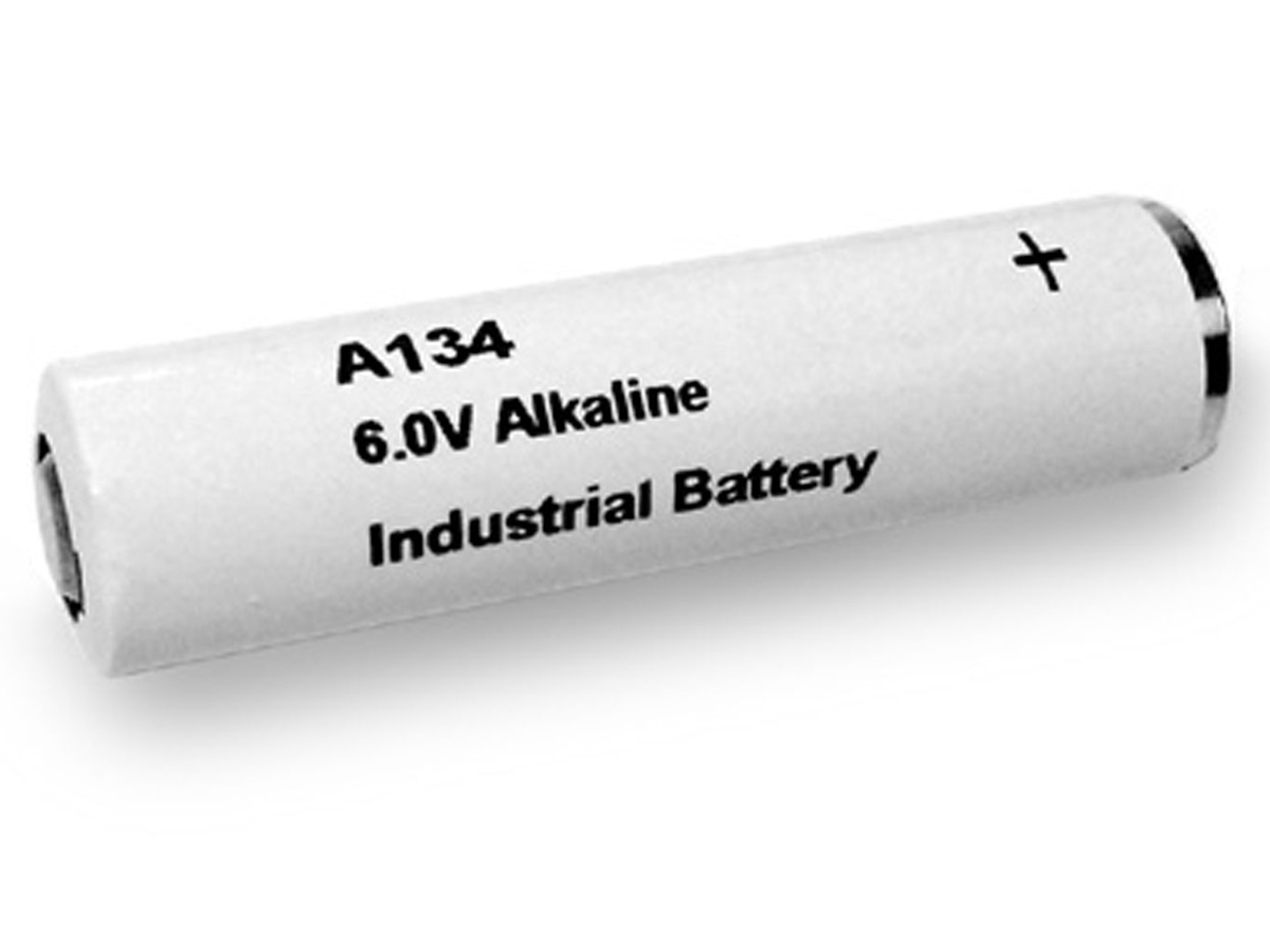 Exell A134 6V battery left side angle
