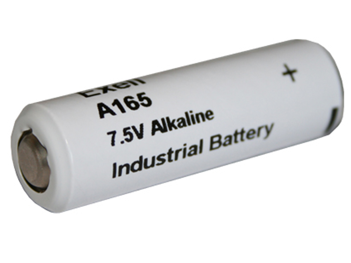 Exell A165 7.5V battery left side angle