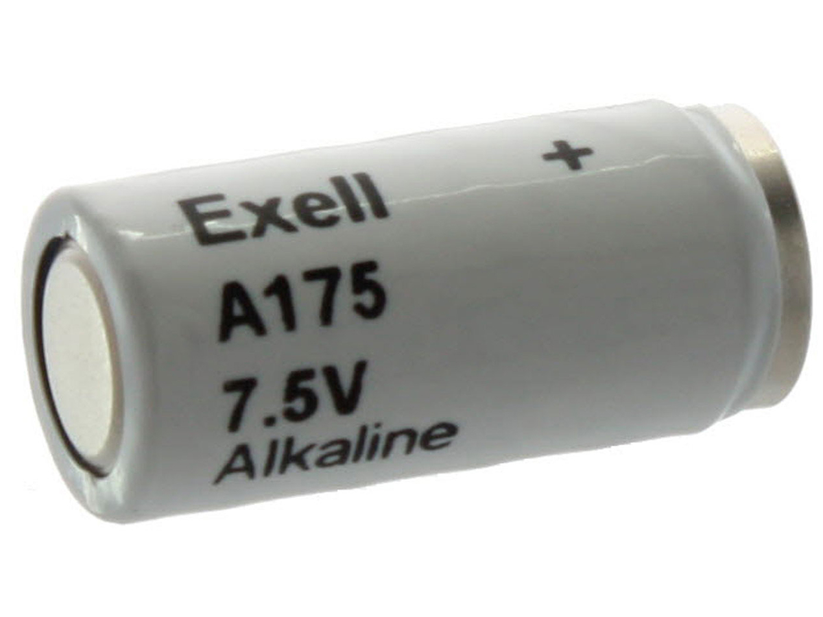 Exell A175 7.5V battery left side angle