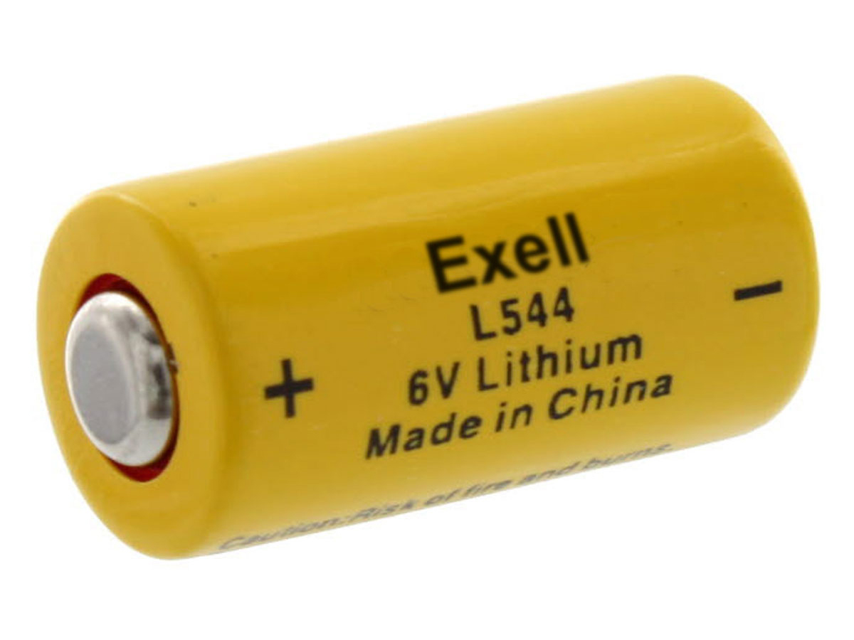 Exell L28PX battery left side angle