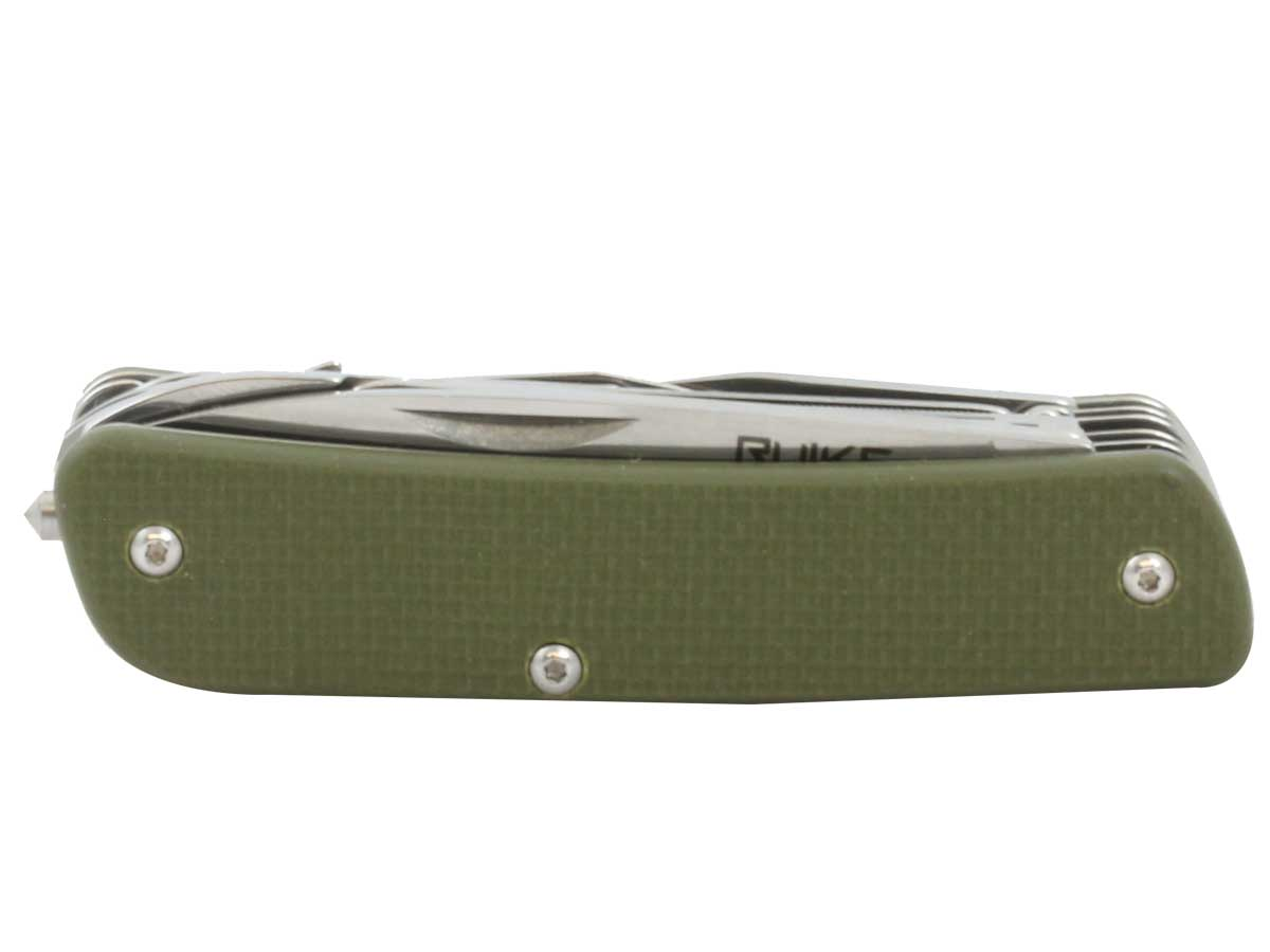 Fenix Ruike M61 in green with corkscrew and reamer unfolded