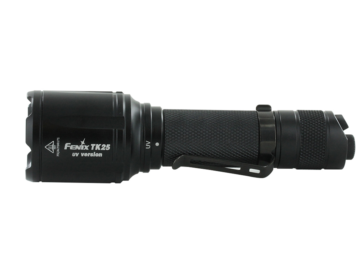 fenix tk25 uv mounted on weapon with specs