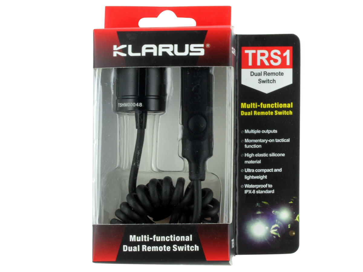 Packaging for Klarus TRS1 Dual Remote Switch