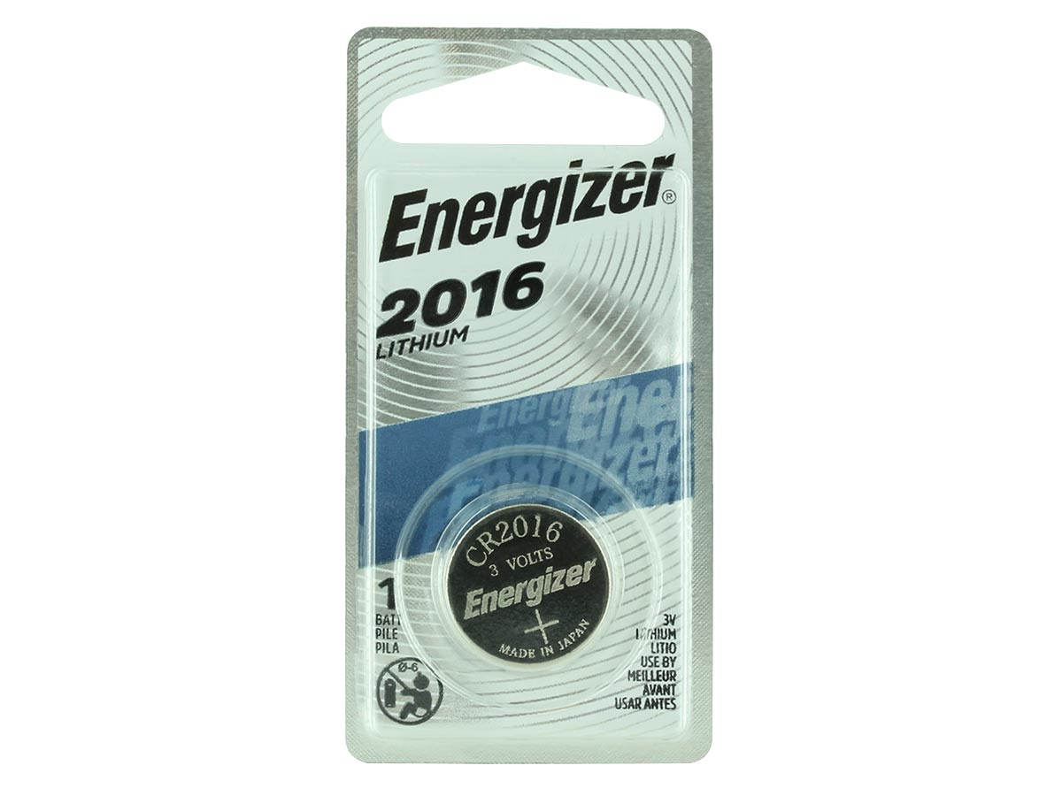 Energizer ECR2016 battery in 1 piece blister packaging