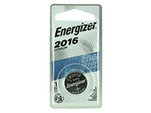 Energizer ECR2016-BP 100mAh 3V Lithium Primary (LiMNO2) Coin Cell Battery - 1 Piece Blister Pack