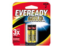 Energizer Eveready Gold A92-BP-2 AAA 1.5V Alkaline Button Top Batteries - 2 Piece Retail Card